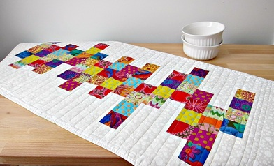 The Modern Table Runner Is An Original Quilting Violinist Pattern, And Can  Be Made In A Large Range Of Sizes To Fit Any Table.